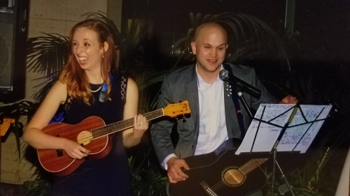 R.C. Trouble performing at our friends' wedding in 2014. #baritoneukulele
